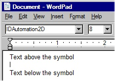 Choose the IDAutomation2D font
