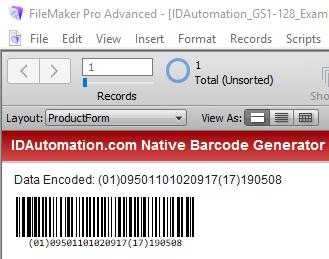 Windows 7 Code 128 Filemaker Barcode Generator 18.03 full