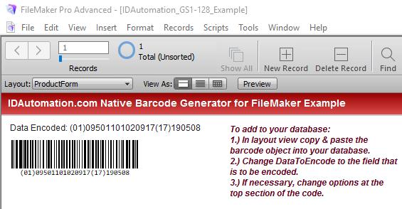Native Linear Generator for Filemaker full screenshot