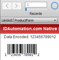 FileMaker Native Barcode Generator Plug-In Extension