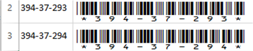 Centering The Cell Content Ensures That The Barcode Has Enough Room To Fully Display
