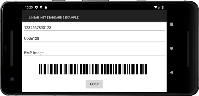 .NET Standard Linear Barcode Generator
