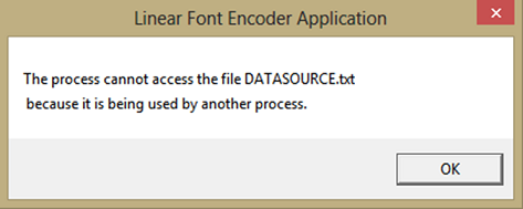 Encoder Software File Lock Error
