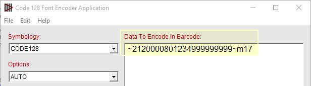 Enter Data to Encode