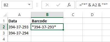 "Data Can Be Encoded Using Excel Formula =""*"" & CELL & ""*"" Where CELL is The Cell of Data Being Ecoded"
