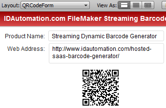 QR-Code streaming into FileMaker Pro
