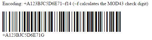 HIBC Java Example