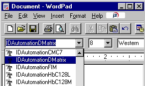 Select The Appropriate Data Matrix Font
