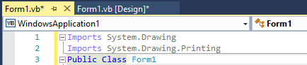 Import System.Drawing.Printing to print barcodes from your project in VB .NET