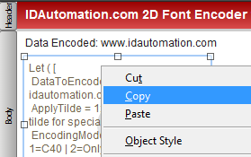 In layout view, copy & paste the barcode object.