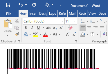 Paste the copied barcode into application.