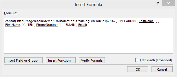 meCard Function