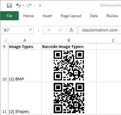 QR Code Native Excel Barcode Generator full screenshot