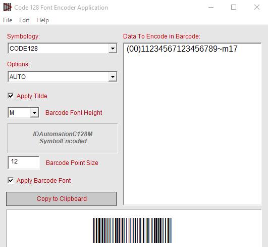 Code 128 Font Encoder Software App 2016 full