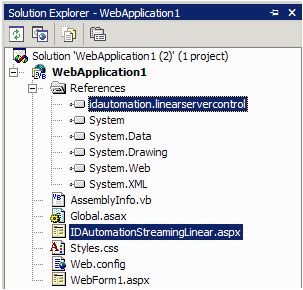 Reference To The DLL and Image Generating Web Page aspx File in a Solution