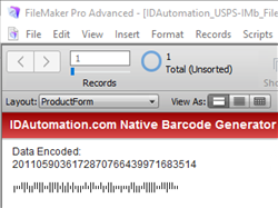 Barcode Generator for Claris FileMaker