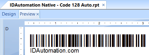 Native Code-128 Barcode Generator in a Crystal Report