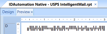 USPS Intelligent Mail symbol within Crystal Reports.