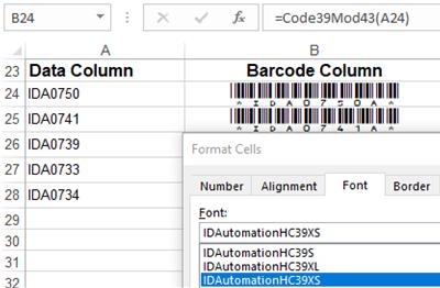 IDAutomation Code 39 Barcode Fonts full screenshot