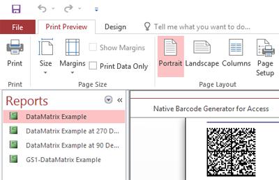 Data Matrix Native Access Barcode