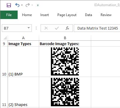 Data Matrix Excel Barcode Generator full screenshot