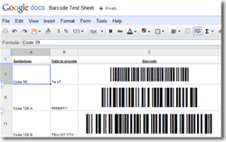 Native Barcode Generator for Google Docs