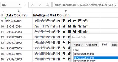 USPS Intelligent Mail IMb Barcode Fonts full screenshot
