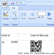 SSRS Barcode Generator Service