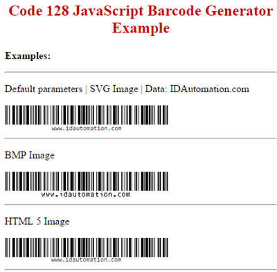 Native JavaScript Barcode Generator