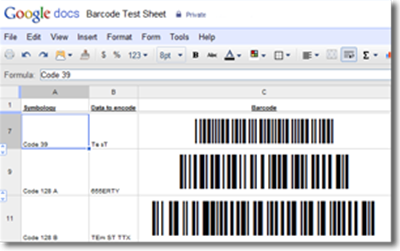 Native Barcode Generator for Google Docs & Sheets