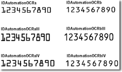 OCR-A & OCR-B Font Package